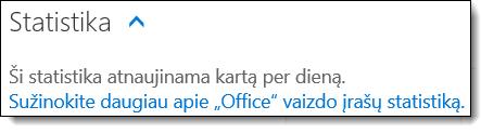 """""""Office 365"""" vaizdo įrašų statistika"""
