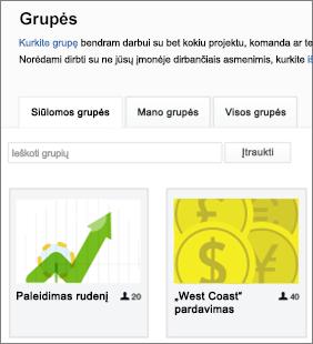 Grupių sąrašas
