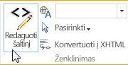 """Šaltinio redagavimas """"SharePoint Online"""" viešoje svetainėje"""