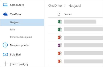 """Failų bendrinimas internetinėje """"Outlook"""""""