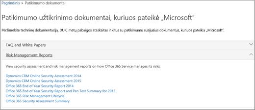 """Rodo tarnybos naujumo garantijos puslapį: """"Microsoft"""" pateikti patikimumo dokumentai"""