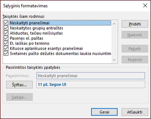 Pasirinkite sąlyginis formatavimas.