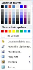"""WordArt"" figūros užpildo parinktys programoje ""Publisher 2010"""