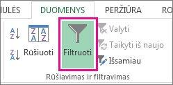 Mygtukas Filtruoti