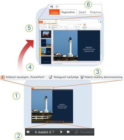 """Trumpai apie """"PowerPoint"""" taikomąją žiniatinklio programą"""