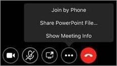 Ekrano rodymo daugiau parinkčių mygtukas