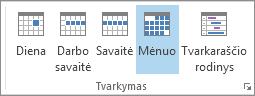 Skirtuko Pagrindinis grupė Tvarkyti: diena, savaitė, darbo savaitė, mėnuo ir grafikas