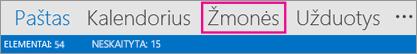 """""""Outlook"""" naršymo juosta – Žmonės"""