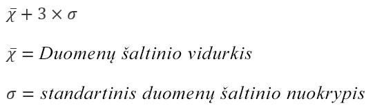 Perteklinio teksto parinkties formulė