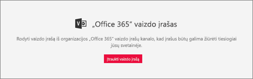 """""""Office 365"""" vaizdo įrašo puslapio dalys"""