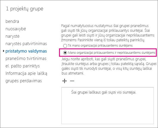 """Naudokite """"Exchange"""" administravimo centrą išspręsti DSN 5.7.133 ir leisti siuntėjams"""