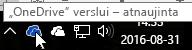 """Ekrano kopija, kurioje rodoma žymiklis virš mėlynos """"OneDrive"""" su tekstu """"OneDrive – verslui""""."""