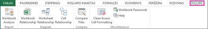 """""""Excel"""" skirtukas Diagnostikos priemonė"""