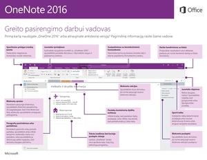 """""""OneNote 2016"""" greito pasirengimo darbui vadovas (""""Windows"""")"""