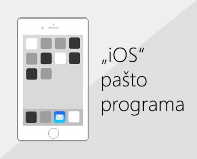 """Spustelėkite, nustatytumėte el. paštą """"iOS"""" pašto programėlėje"""