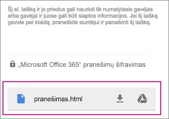 """OME peržiūros programa su """"Gmail"""" naudojant """"Android 1"""""""