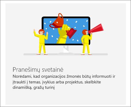 """""""SharePoint"""" """"Office 365"""" ryšių svetainė"""