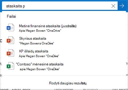 "Ieška ""OneDrive"" verslui"