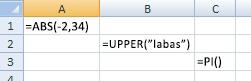 Trys funkcijų tipai
