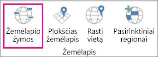 Trimačių žemėlapių žymų parinktis