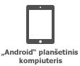"""""""Android"""" planšetinio kompiuterio piktograma"""