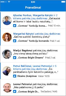 """Outlook Groups Mobile"" pranešimai"