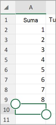"""""""Android"""" planšetinio kompiuterio """"Excel"""" Automatinė sudėtis"""