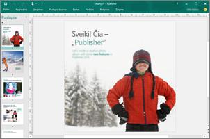 """Naudokite """"Publisher"""" norėdami sukurti profesionalių informacinių biuletenių, brošiūrų ir kitų leidinių"""