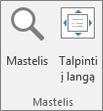 """""""PowerPoint"""" juostelės grupė Mastelis"""