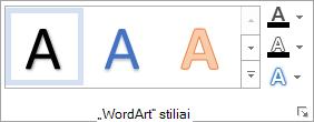 Grupė WordArt stiliai
