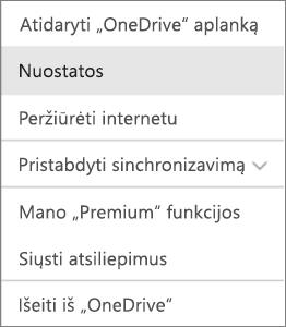 """Veiklos centras """"OneDrive for Mac"""""""