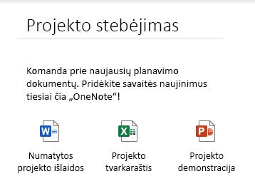 """Įdėtieji failai """"OneNote"""", skirtos """"Windows 10"""", puslapyje"""