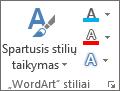 """Grupė """"WordArt"""" stiliai tik su piktogramomis"""