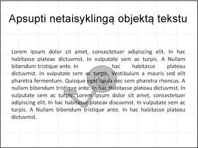 Skaidrė su paveikslėliu ir uždengiančiu tekstu