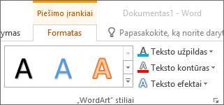 "Grupė ""WordArt"" stiliai"