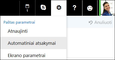 """Žiniatinklio """"Outlook"""" automatiniai atsakymai"""