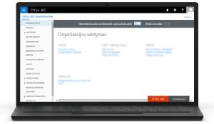 """""""Office 365"""" administravimo centro iliustracija. Sužinokite daugiau apie """"Office 365"""" administravimo centrą"""
