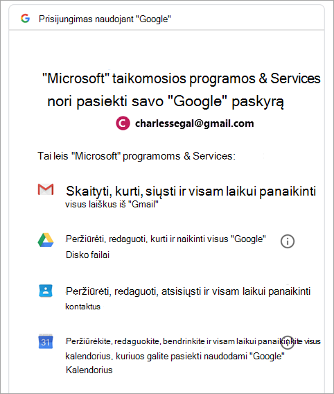 """""""Google"""" teisių užklausa"""