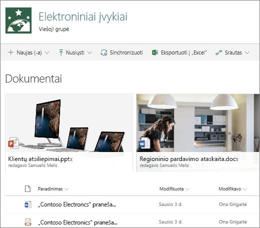 """SharePoint"" dokumentų biblioteka"