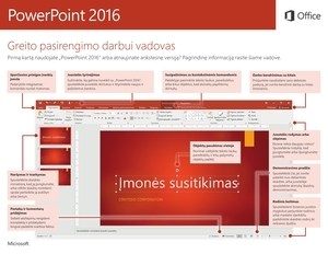 """""""PowerPoint 2016"""" greito pasirengimo darbui vadovas (""""Windows"""")"""