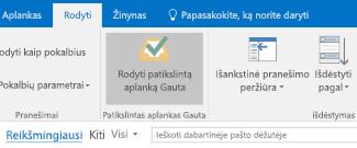 """""""Outlook"""" reikšmingiausiu gautųjų funkcija"""