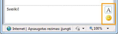 IM formatavimo mygtukai