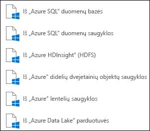 """Duomenų gavimas iš """"Microsoft Azure"""""""