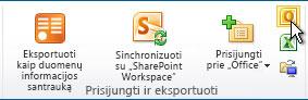 """Prisijungimas prie """"Outlook"""" komanda"""