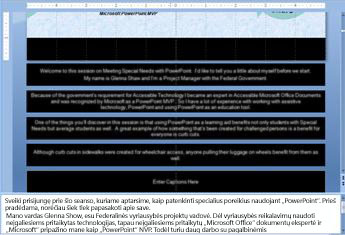 Skaidrių ruošinys su teksto vietos rezervavimo ženklų antraštė