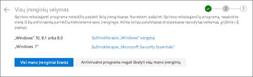 """Ekrano nuotrauka valyti visuose savo įrenginiuose ekrano """"OneDrive"""" žiniatinklio svetainėje"""