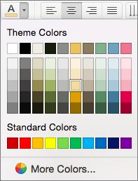 Šrifto spalvos pasirinkimas