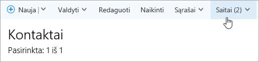 Ekrano nuotrauka, kurioje rodomas puslapio žmonės mygtukas saitai.