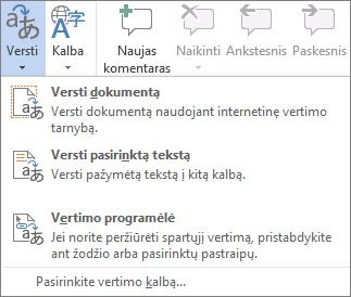 """""""Office"""" programose galimi vertimo įrankiai"""