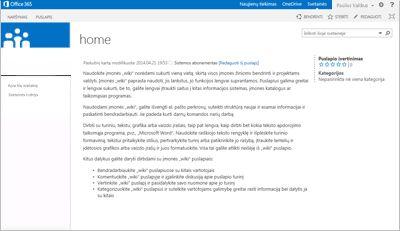"""Įmonės """"wiki"""" svetainės šablonas"""